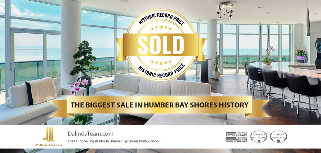 Historic Record Price, Humber Bay Shores