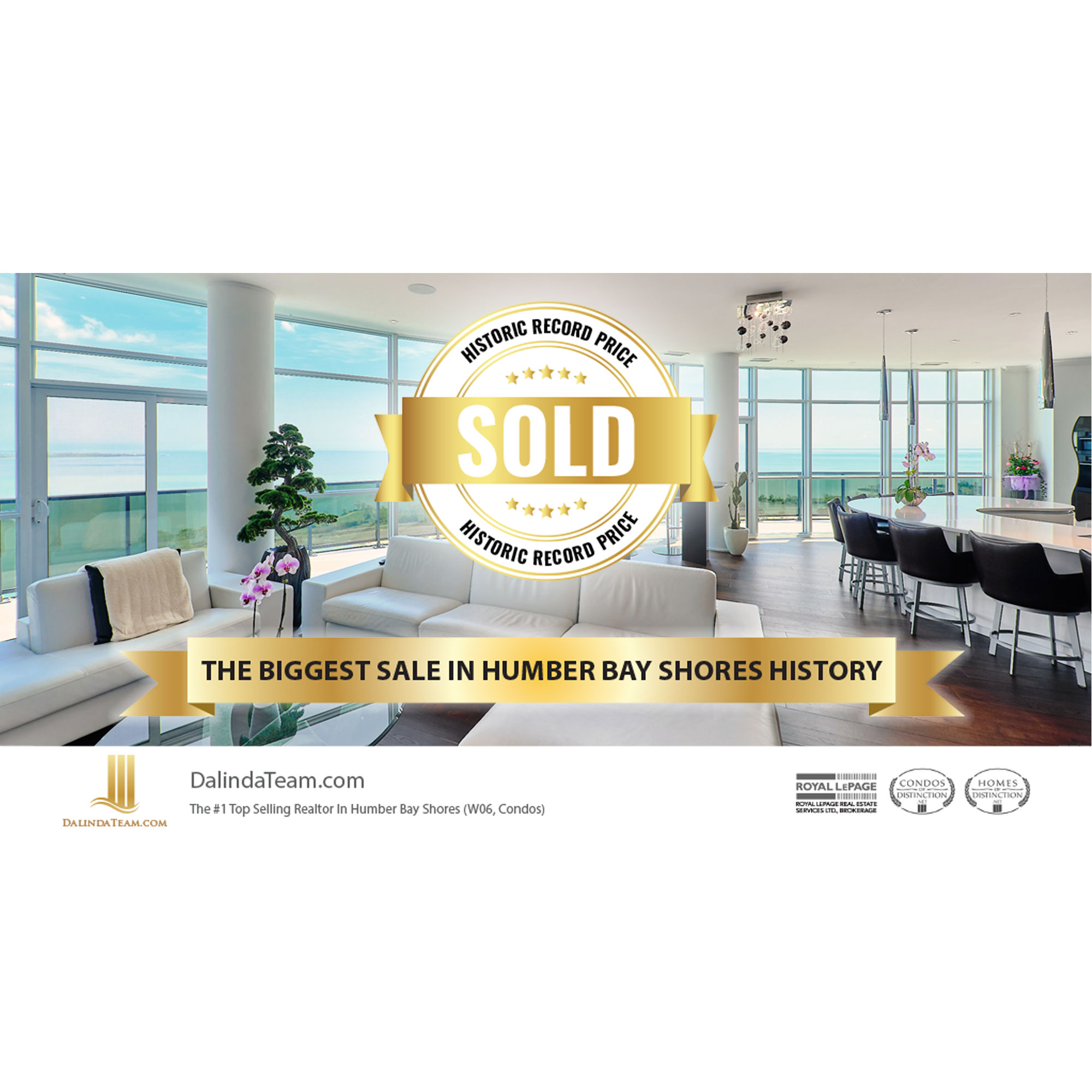 Historic Record Price Humber Bay Shores